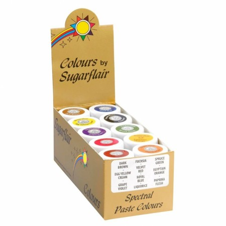 Sugarflair Paste Color Sett - 10 stk