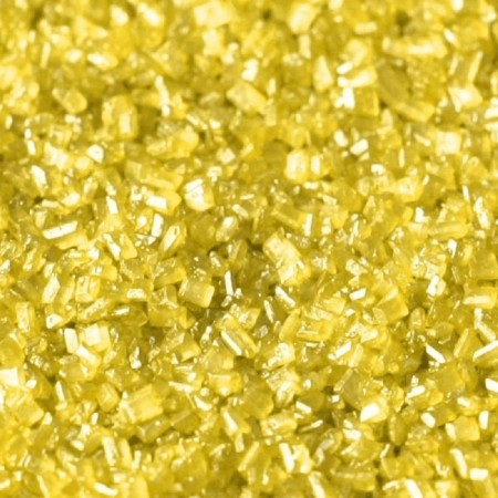 RD Baby Yellow- Pearlescent Sugar Crystal Sprinkles 50g